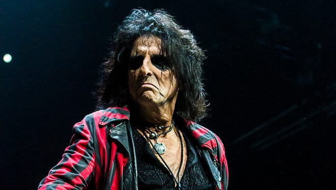 Alice Cooper seen performing live at Talking Stick Resort Arena in Phoenix.