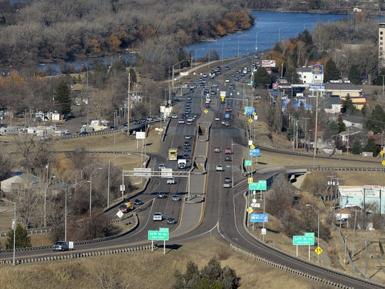 The Fox Farm intersection and I-15 Exit 0 seen at 5 pm on Wednesday. Construction of a new hotel at the Fox Farm Intersection has been  delayed due to traffic access concerns.: TRIBUNE FILE PHOTO