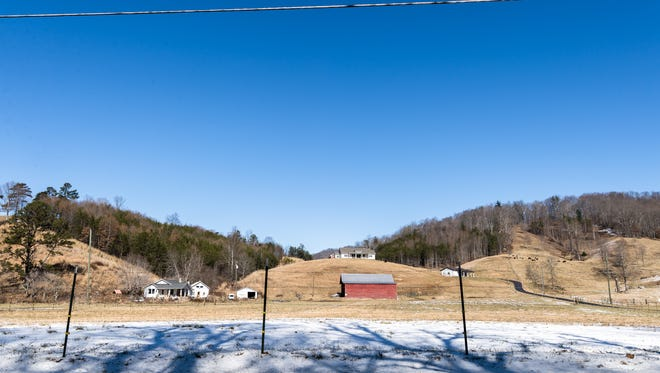 The Barnardsville community in Buncombe County's northeastern corner features lots of beautiful  mountains and farm land, including this scene along Dillingham Road, and supporters of President Donald Trump
