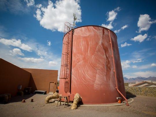 A Jornada Water Co. tank in the Las Alturas neighborhood,