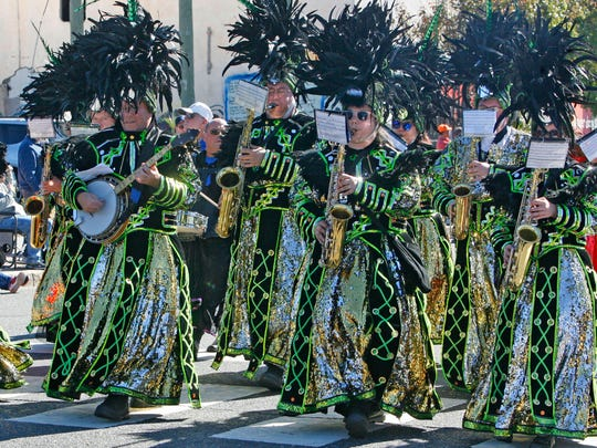 The Hegeman String Band of Philadelphia marches at the 24th annual Ocean County Columbus Day Parade in Seaside Heights October 11, 2015.
