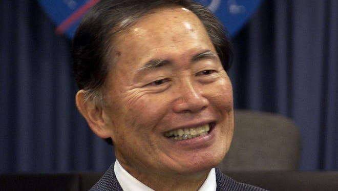 """Actor George Takei visited Kennedy Space Center in April 2007 to talk to KSC employees about diversity. Takei played Sulu on the science fiction TV show """"Star Trek."""""""