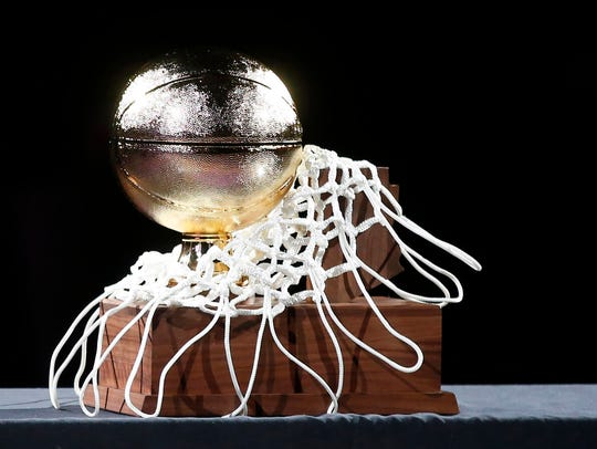 The AIA trophy for high school basketball.
