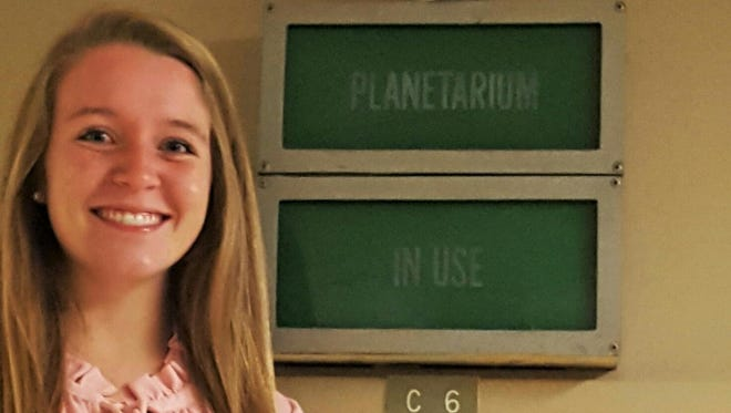Allie Ray, senior at McNairy Central High School, is working to restore the school's planetarium.