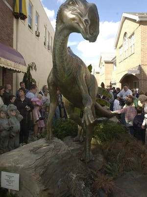 This $100,000 dinosaur statue is right at home in Haddonfield.