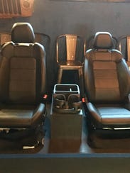 Real car seats are among the new adornments at the