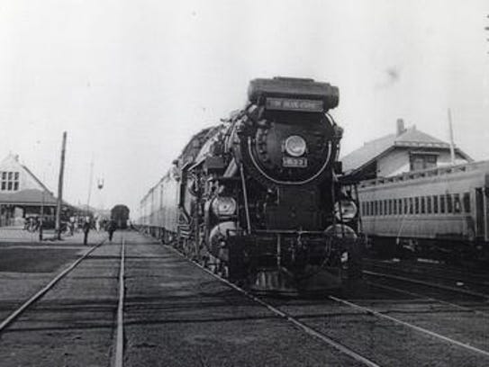 """""""The Blue Comet"""" passenger train makes a scheduled"""