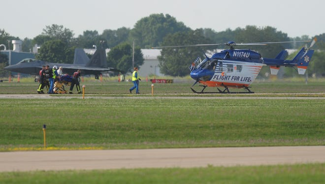 A single engine airplane crashed on landing to Wittman Regional Airport just before 8 AM Wednesday, July 22, 2015 the third day of AirVenture 2015 in Oshkosh, WI.  Five people were taken to area hospitals with injuries from the crash.  One of the victims was take by Flight For Life to an area hospital.