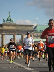 Jim Williams ran the Berlin Marathon to celebrate his 50th birthday.