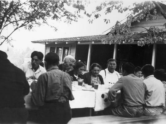 This 1940 photo shows a Suquamish homestead, the home of William Sigo Sr. and Mabel Sigo, at Erlands Point.