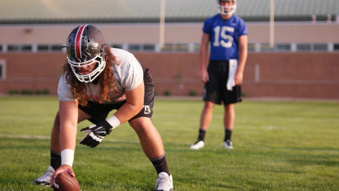Vinnie Palazeti is building confidence at center after moving over from the guard spot.