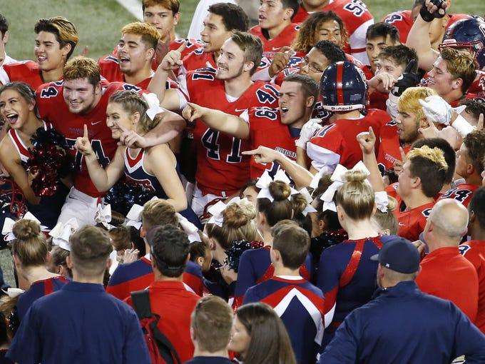 Centennial celebrates winning the 5A high school football