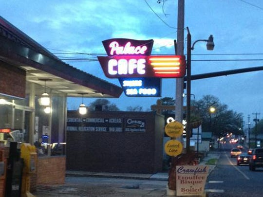 Thanks to a matching redevelopment incentive grant through the Louisiana Main Street program, the Palace Cafe's historic marquee once again lights up the night.