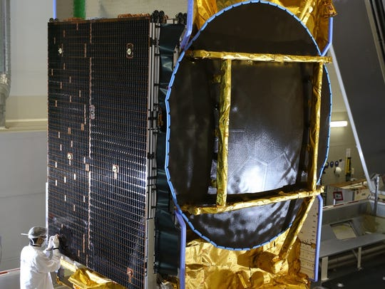 The SES-10 commercial communications satellite.