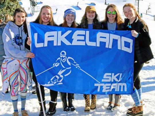 The Lakeland girls ski team took third overall in the KLAA meet Feb. 13 at Mt. Brighton.