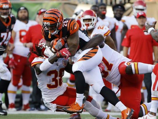 Cincinnati Bengals running back Joe Mixon may be featured