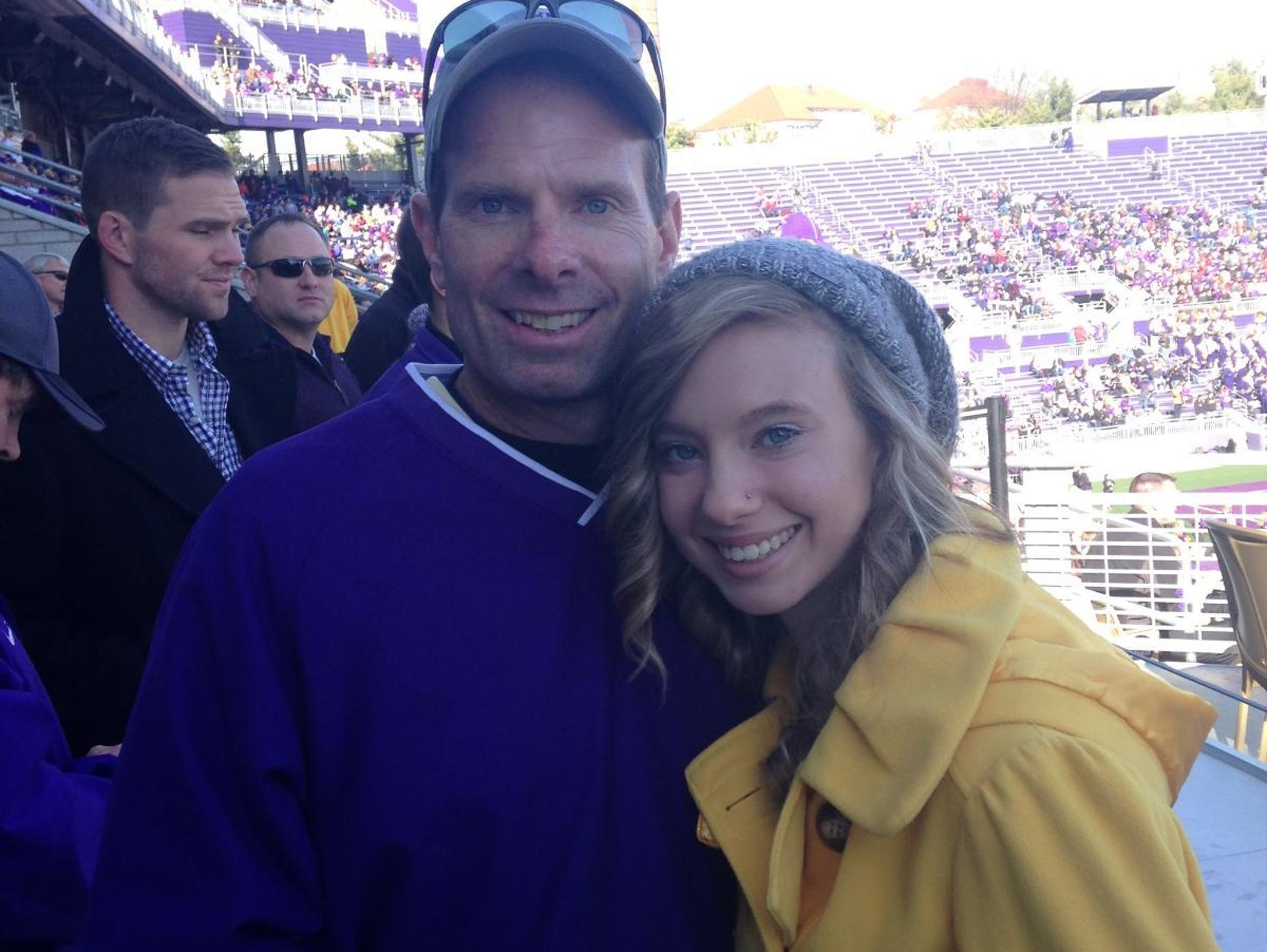 Mike Ruckman and his daughter Mandy, 18, at James Madison's