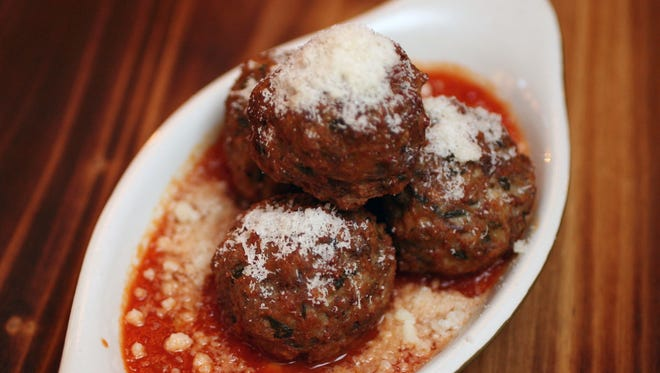 Fried meatballs at Fortina in Armonk.
