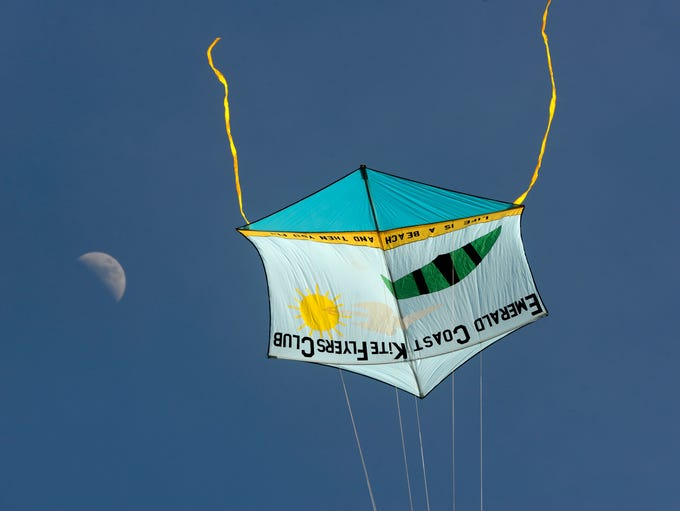 One of the Emerald Coast Kite Flyers Club's kites takes