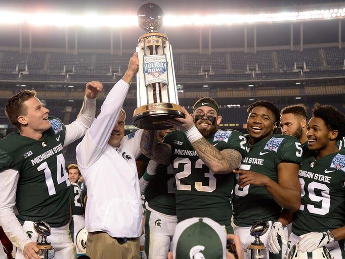 Michigan State Spartans head coach Mark Dantonio and
