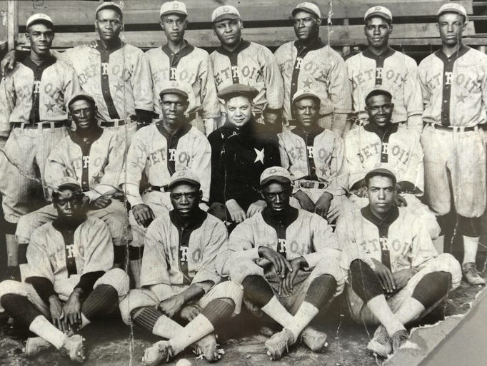 The Detroit Stars, seen in 1920, were organized in