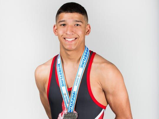 Winter Player of the Year finalist Gabriel Ramirez, Immokalee wrestling
