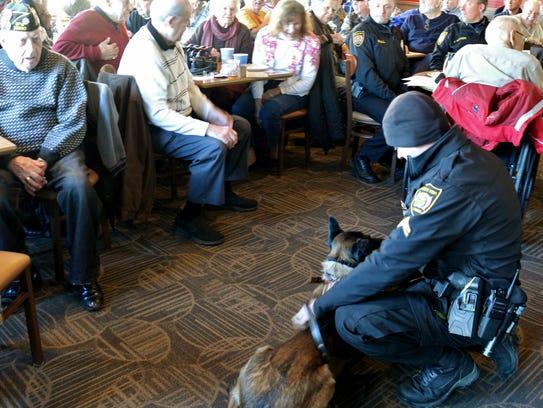 Green Township Police Cpl. Tony Leidenbor introduces