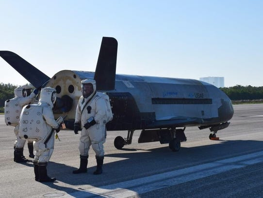 An unmanned Air Force X-37B space plane in May landed