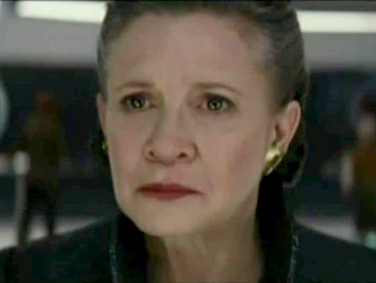 """Carrie Fisher as Leia in """"Star Wars: The Last Jedi."""""""