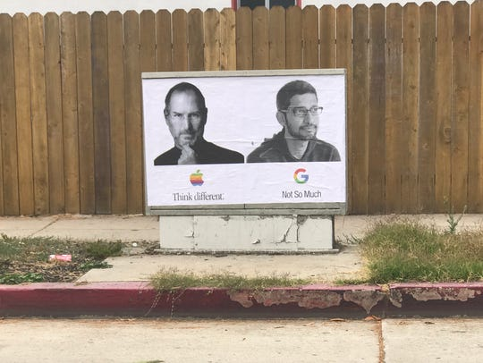 A rogue poster pasted on city property in Venice Beach,