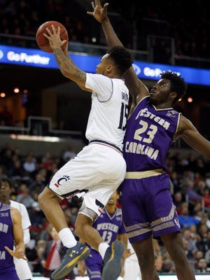 Mike Amius (23) scored 19 points for Western Carolina against UNC Greensboro.