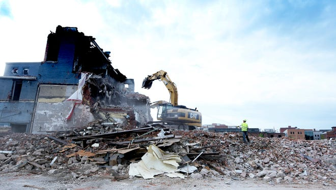 York County commissioners are considering a proposal to enact a $15 fee on all deeds and mortgages recorded to create a demolition fund to eliminate blighted properties around the county.