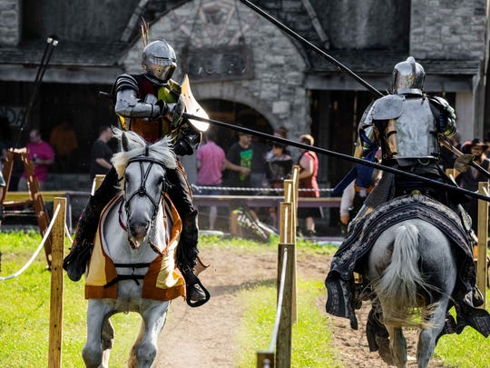 Full-contact armored jousting is a popular part of the Michigan Renaissance Festival in Holly.
