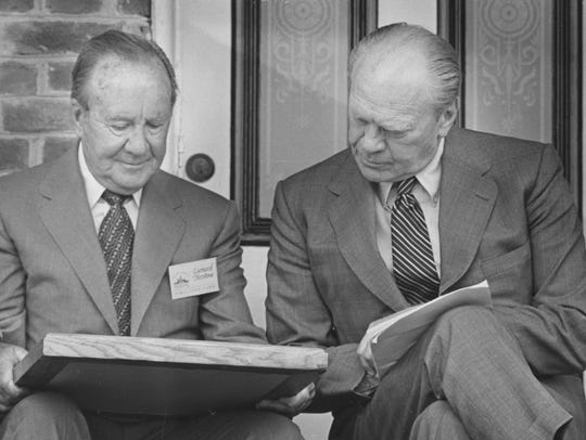 Leonard Firestone and former President Gerald Ford