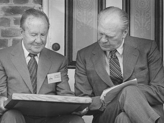 Leonard Firestone and former President Gerald Ford c. 1985.
