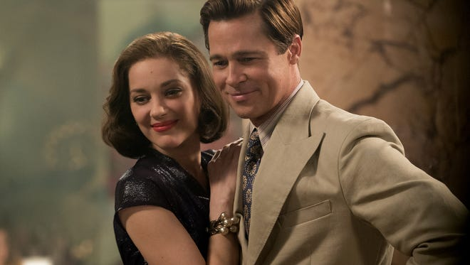 """In """"Allied,"""" Max (Brad Pitt) and Marianne ( Marion Cotillard) are a married couple with secrets."""