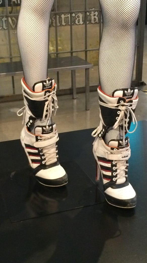 These are the shoes Harley Quinn is seen wearing in