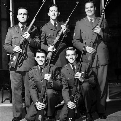 AFROTC Sharpshooters - Leading members of the Air Force