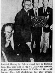 On September 12, 1963, this image appeared in the Burlington Free Press accompanied by an article about anti-segregation protesters in Birmingham, Alabama.