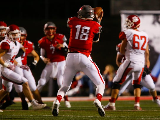 Nixa's Alex Allen catches a pass during a game against
