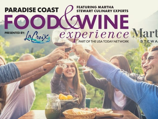 Get your tickets to the Paradise Coast Food & Wine Experience featuring Martha Stewart Culinary Experts.