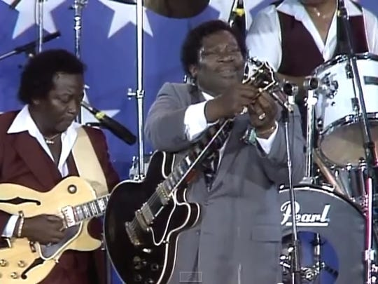 Greg Shane of Urbandale saw B.B. King, pictured, at the first Farm Aid concert in 1985.