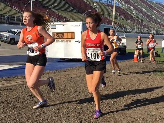 Pinckney's Mia Garcia was the fourth freshman and 53rd overall finisher in the state Division 1 cross country meet.