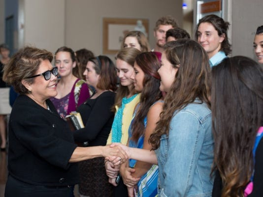 Columba Bush, the wife of former governor and presidential hopeful Jeb Bush, visited Ave Maria University on Monday. She and Jeb are close friends with President Jim Towey. A university spokeswoman said it was not a campaign stop. (Submitted photo)