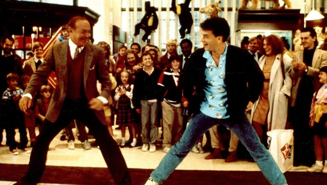 """Robert Loggia and Tom Hanks in the 1988 comedy """"Big."""""""
