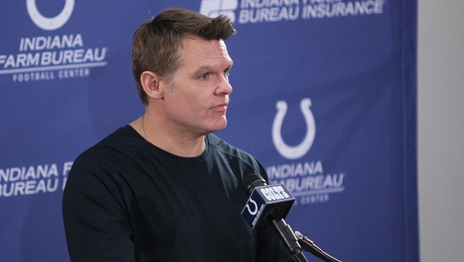 The Indianapolis Colts general manager speaks to the meda about Josh McDaniels staying with the New England Patriots February 7, 2018.