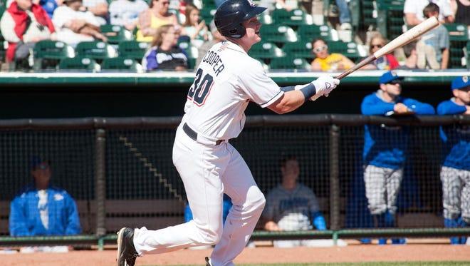 Class AAA Colorado Springs first baseman Garrett Cooper.
