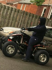 This photo of Damon Grimes on his ATV was taken one