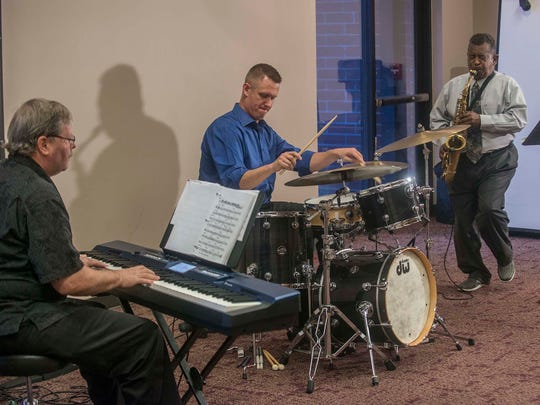The WSJ Jazz Trio performs at the Montgomery Advertiser on Monday, Oct. 3, 2016.  From left are Tom Sellers, Ben Johnson and Coleman N. Woodson Jr.