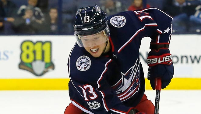 Right wing Cam Atkinson led the Blue Jackets last season with 35 goals and 62 points.